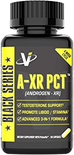 VMI Sports AXR PCT Testosterone Booster Full Spectrum Post Cycle Therapy Boosts Free Testosterone Inhibits Estrogen Conversion With Prostate Support
