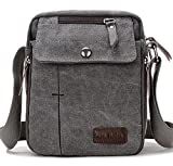 SUPA MODERN® Men Small Vintage Canvas <span class='highlight'>Messenger</span> Bag Cross body bag Pack Organizer Satchel Bag Durable Multi-pocket Sling Shoulder Bag