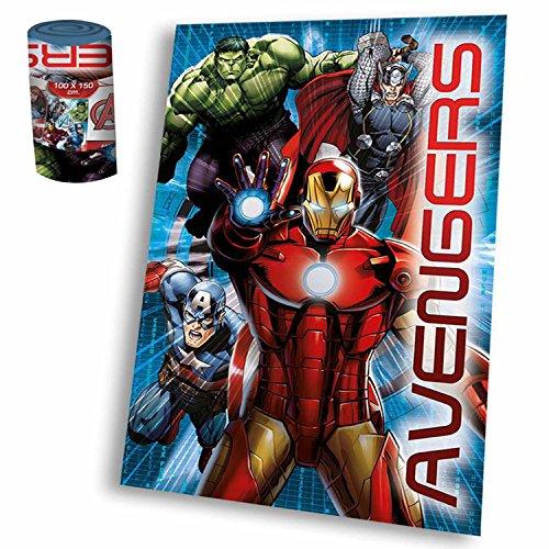 Avengers Weiche Polar-Fleecedecke mit Marvel-Motiv, Größe XL, 120 x 150 cm