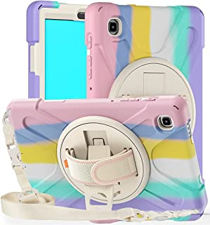 Fegishilly Tablet Case for Galaxy Tab A7 Lite SM-T220 T225, Heavy Duty Rugged Silicone + PC Shockproof Case 360 Degree Rot...
