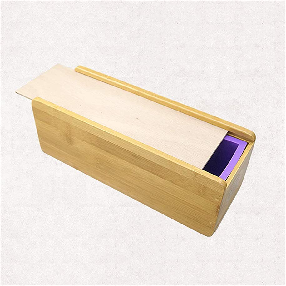 FantasyDay DIY Soap Making Tool Set, Silicone Rectangular Soap Mold with Wood Box and Wood Lid - Handmade Craft Soap Making Kitchen Tool