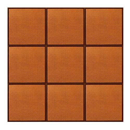 MKMKL Estera De Empalme, Espesa La Estera/Colchón/Tapete De Mesa Cuadrados del Piso del Dormitorio,20mm,Dark Brown,24x24inx9
