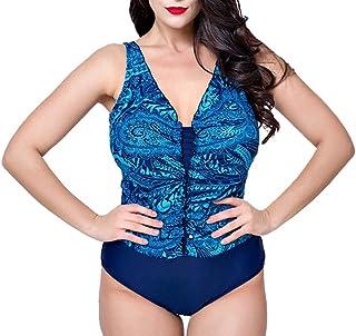 comprar comparacion Mujer Cuello V Bikini Monokini Tallas Grandes Bañadores Imprimir Sin Mangas Traje De Baño