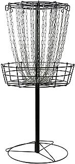 MVP Black Hole Practice 24-Chain Portable Disc Golf Basket Target (Renewed)