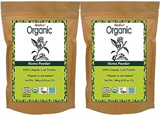 Radico 100% Organic Henna Powder-100gm Pack of 2