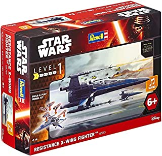 Star Wars Build & Play EasyKit Episode Vii The Force Awakens, Resistance X-Wing Fighter with Sound Effects