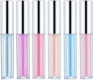 Glitter Liquid Lipsticks Set of 6 Diamond Shimmer Metallic Lipstick Waterproof Long Lasting Shinning Iridescent Mermaid Shimmer Lip Gloss Face Eye Cosmetic Glow Shimmer Makeup Kit (6 Pcs)
