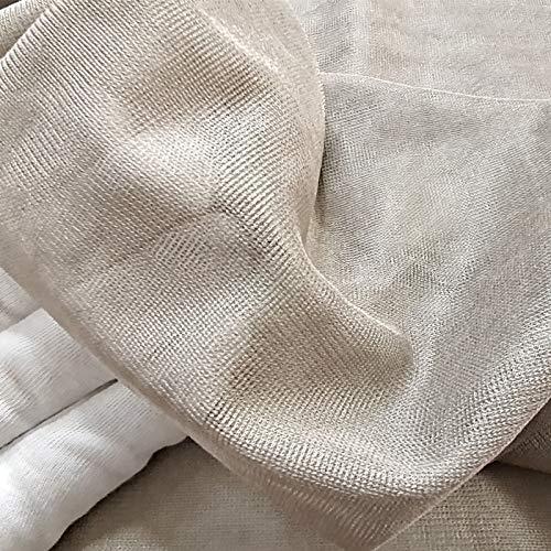 Multi-purpose Breathable Silver Fiber Radiation Reduce Fabric EMF/RFID/EMI/RF Blocking Material Conductive Gauze Net For Shielding Curtain Canopy(Size:1.5 * 2m)
