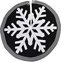 TOYMYTOY Christmas Tree Skirt Embroidery Snowflake Decorative Xmas Tree Aprons Holiday Tree Under Mat Gift Organizer for F...