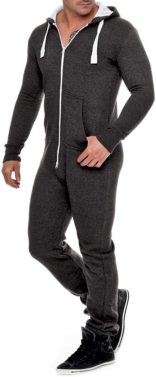 Mono de forro polar para hombre, traje de chándal para hombre, bonito y elegante, con capucha, ropa de dormir