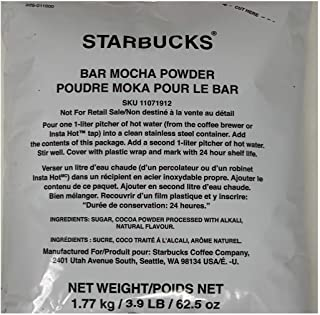 Starbucks Mocha Powder Sauce, 3.9 Pound Bag, Smooth Gourmet Powdered Drink Mix for Iced Coffee, Espresso, Cappuccino and Frappuccino, Rich Chocolate Taste