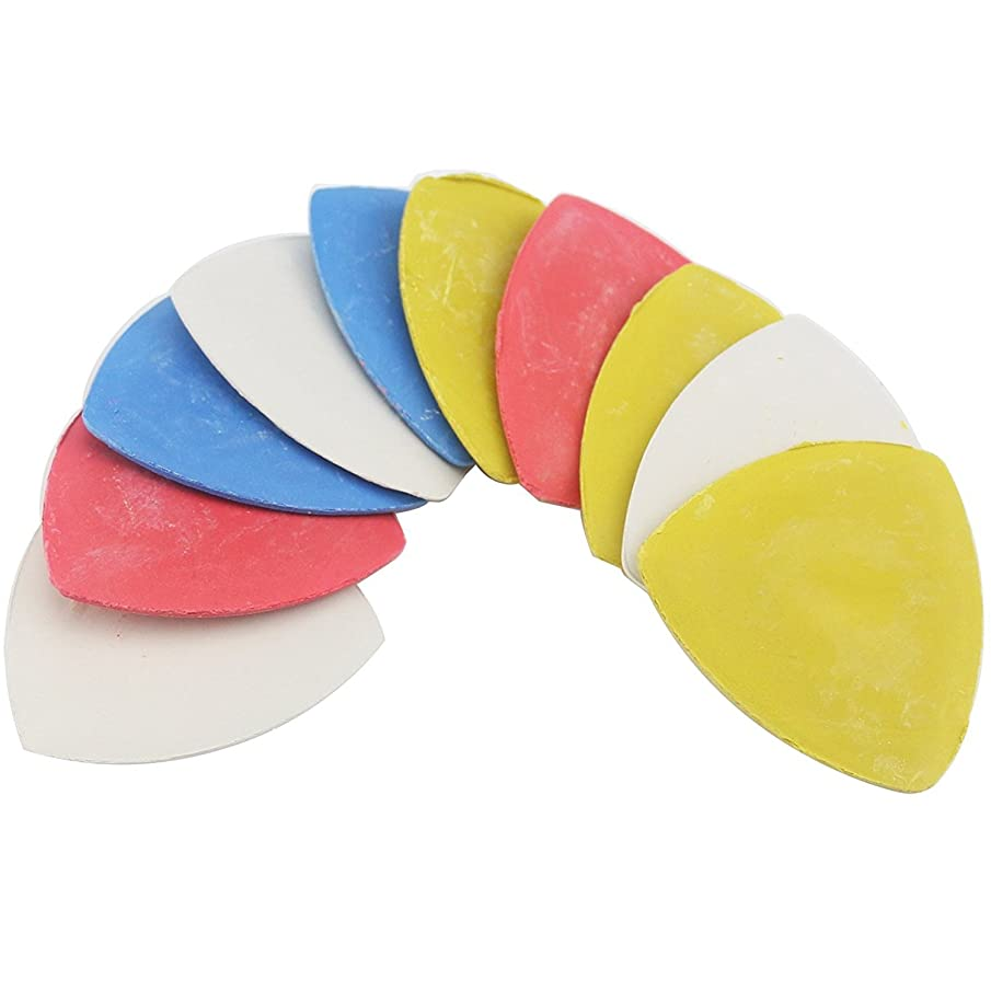 Triangle Tailor's Chalk, Sewing Quilting Notions White/Yellow/RED/Blue 10 Pieces, CMUZI-GJ8
