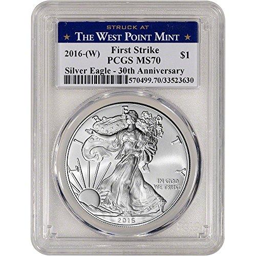 2016 (W) American Silver Eagle (1 oz) First Strike WP Label $1 MS70 PCGS