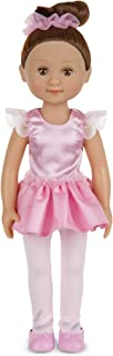 Melissa & Doug Victoria 14-Inch Poseable Ballerina Doll With Leotard and Tutu, Great Gift for Girls and Boys - Best for 3, 4, 5, and 6 Year Olds