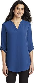 Port Authority Ladies 3/4-Sleeve Tunic Blouse M True Blue