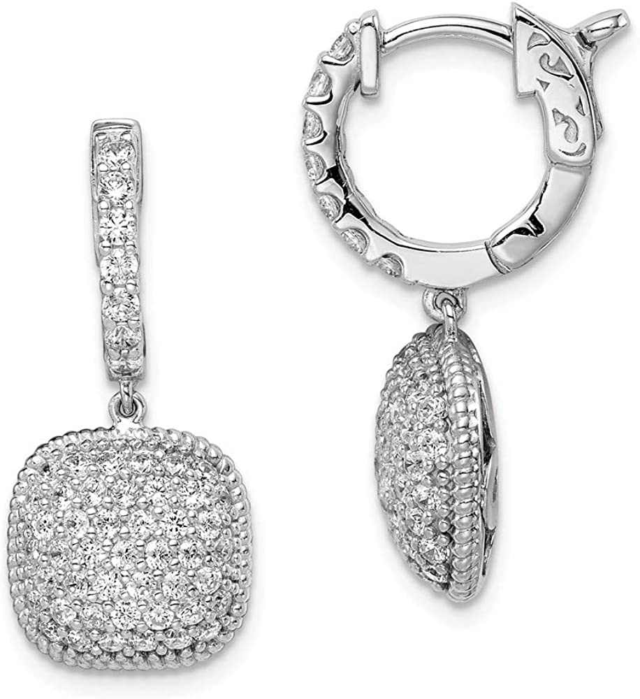 FB Jewels Solid Sterling Silver Plated Boston Mall Zirconia Selling and selling Rhodium CZ Cubic