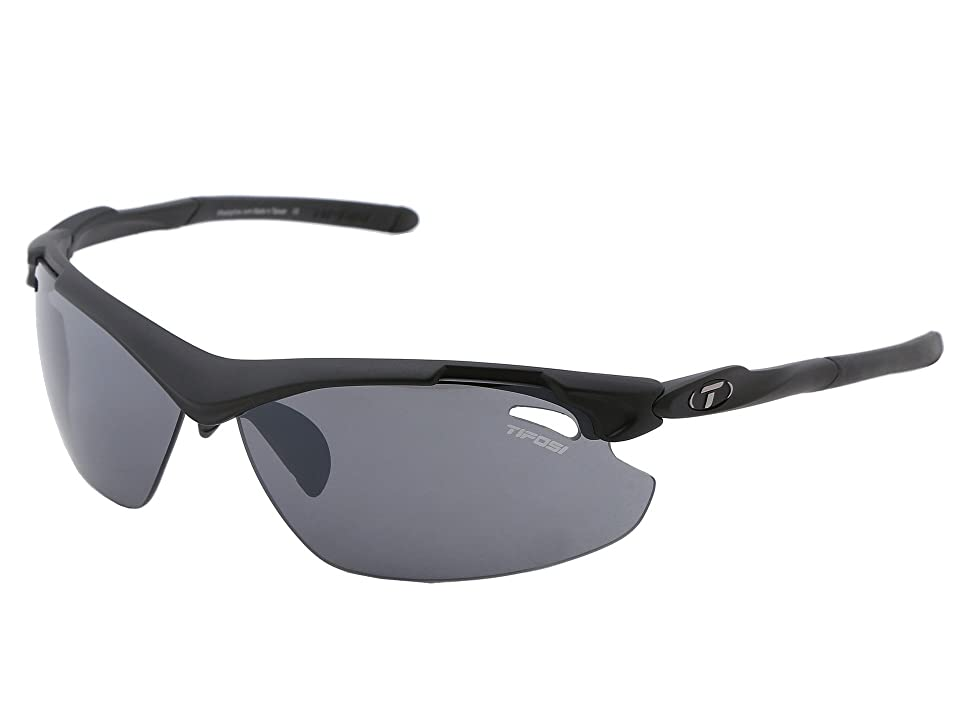 Tifosi Optics Tyranttm 2.0 Interchangeable (Matte Black/Smoke/AC Red/Clear Lens) Athletic Performance Sport Sunglasses