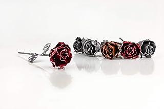 Rosa Eterna fatta di Ferro Battuto - Forgiata a Mano - Vari Colori