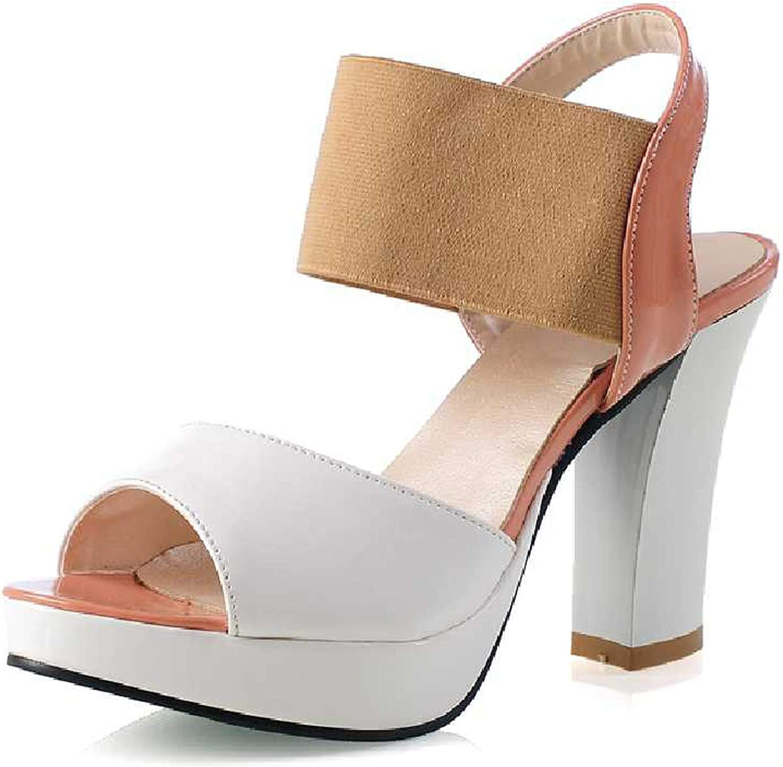 Meet at Summer-heeled samndals Big Size 30-43 High Heel Sandals Ankle Straps Open Toe Platform shoes Woman