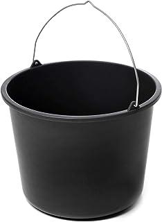 acerto Cubo de limpieza 40533, cubo de mortero, cubo de construcción en negro, 12 litros, plástico (1)