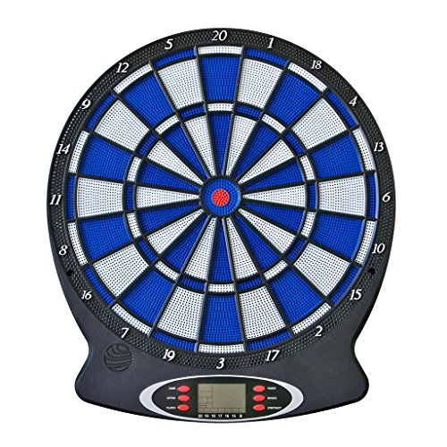 MABAMAHO Darts mit Dartscheibe (Batterie) 38 x 43 cm + 6 Soft-Tip Darts + Ersatzspitzen / 1-8 Spieler, Sprachausgabe und Sounds