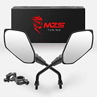 MZS ATV Mirrors Hawk-Eye Rear View Convex Universal 7/8 Handlebar Mount compatible Motorcycle Scooter GY6 Dirt Quad Bike Coolster ATV's Polaris Yamaha Arctic Cat Can-am Honda Kymco Kawasaki KTM Suzuki