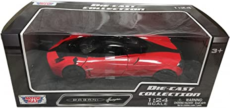 Motormax Pagani Huayra Red with Black Wheels 1/24 Diecast Model Car