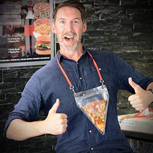 CKB Ltd® Novelty Pizza Holder Pouch and Lanyard - Ungewöhnliche Geschenk - Hält Große Pizza-Scheiben- Die ultimative Pizza Lovers Gadget