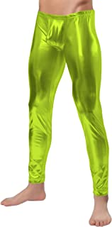 Sheface Men's Shiny Metallic Long Pants Tight