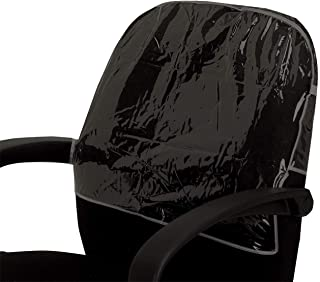 Betty Dain Deluxe Round Chairback Cover, Clear/Black