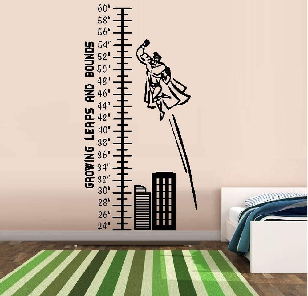 Wall Decal Stickers Growing Leaps BOY Chart and safety Bounds Grow Soldering