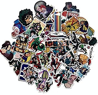 73 pcs My Hero PVC Waterproof Stickers Bomb Superheroes for Laptop, Notebooks, Car, Bicycle, Skateboards, Luggage Decoration