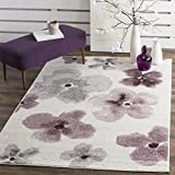 Safavieh Adirondack Collection ADR123L Ivory and Purple Vintage Floral Watercolor Area Rug (3' x 5')