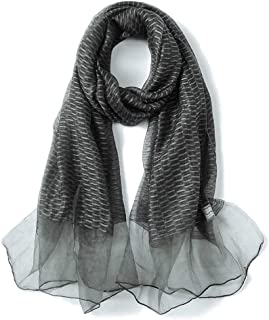 Women's Silk Scarf Solid Color Cutout Silk Long Scarf Shawl Dual Purpose Spring Autumn Winter,Perfect Accent to Any Outfit (Color : 04, Size : 190cm*85cm)