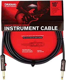 Cable de instrumento con disyuntor con interruptor de apagado con bloqueo de 3 m, conector recto