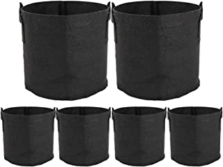 ValueHall Grow Bags Thickened Nonwoven Aeration Fabric Pots Plant Grow Bags Plant Pots with Handles V8020 (6 Pack- 7 Gallons)