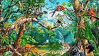 ジグソーパズル300ピースおとぎ話油絵風景ジグソーパズル木製フェリー 子供の誕生日プレゼント女の子へのサプライズギフト大人のジグソーパズル芸術パズル家の装飾