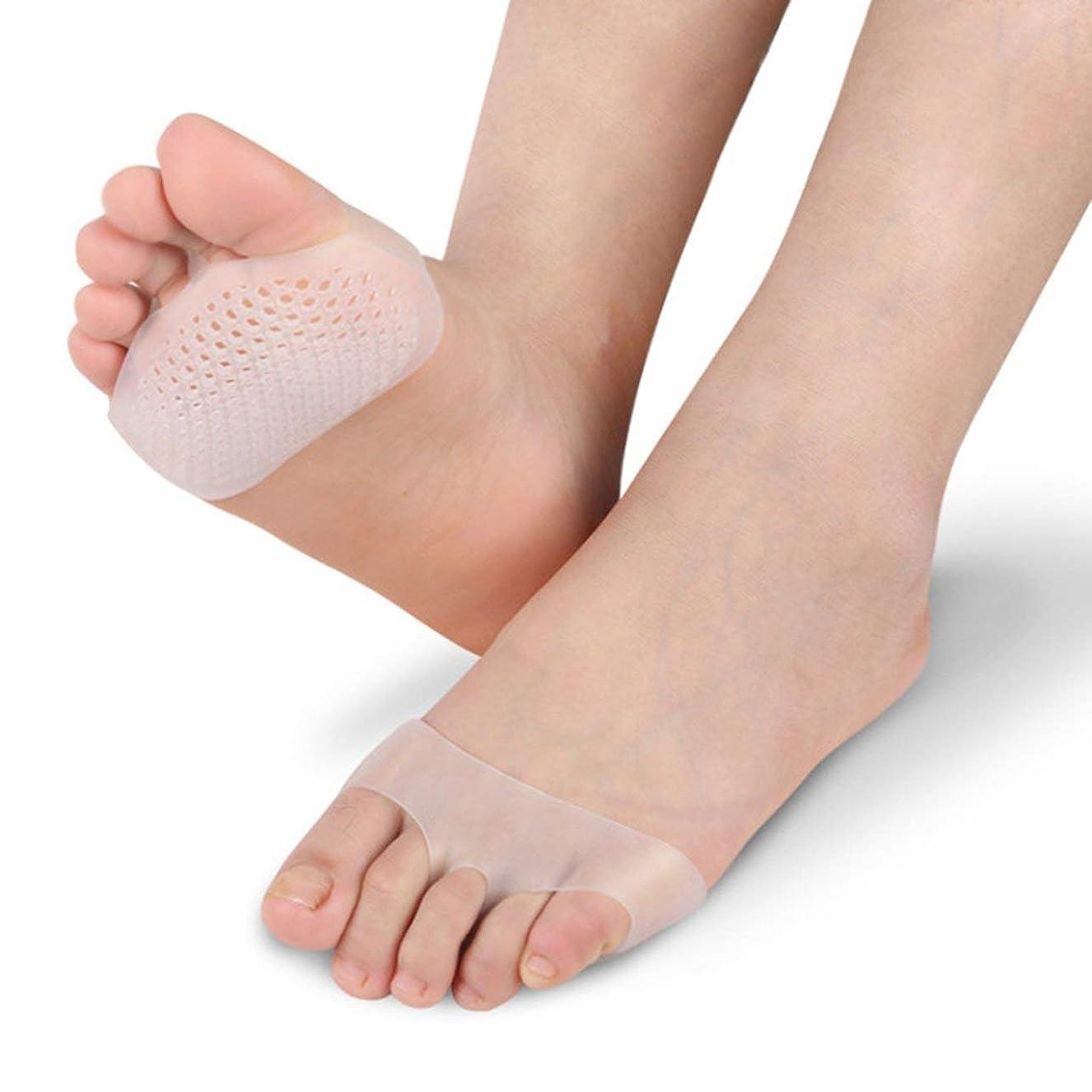 痴漢傾向ローマ人DeeploveUU 通気性ソフトシリコーン女性インソールパッド滑り止め快適な女性フロントフットケアクッションハイヒールの靴パッド