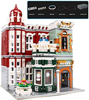 YESHIN Green Grocer Assembly Building Kit with Led Light Model Collectible Display Set and Toy for Adults (3037 Pieces)