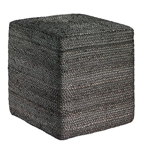 Vivaraise zitzak Jarod vierkant, 40 x 40 cm, grijs