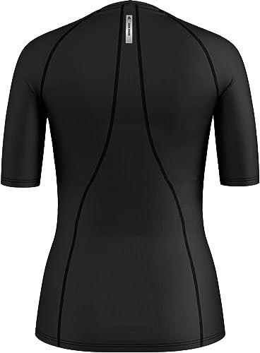 Odlo 35080115000L Chemise Femme, Noir, FR   L (Taille Fabricant   L)