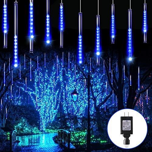 Blingstar Meteor Shower Lights 30CM 10 Tubes 240 LED Christmas Lights Plug in Snowfall LED Lights Outdoor Waterproof Falling Rain Lights for Tree...