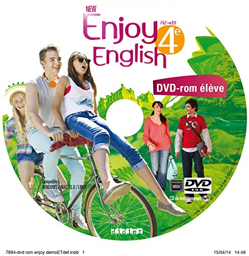 New Enjoy English 4e - Coffret audio vidéo classe 3 CD + 1 DVD