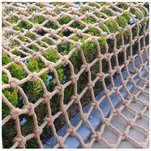 Red de cuerda de escalada para patio de juegos Red de cuerda de cáñamo Red de seguridad Red de cuerda de cáñamo impermeable Red de red Red de jardín Red de techo Redes decorativas, dai 6 mm, 8 mm
