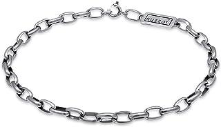 HMKLN Bracelet Mode Homme en Argent Massif Bracelet en Argent Massif Men13 Mm 21Cm