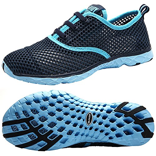 ALEADER Women's Quick Drying Aqua Water Shoes Blue 6 D(M) US/FR 36