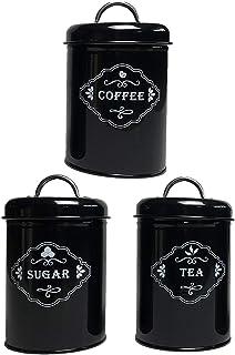 Baoblaze 3X Boîtes de Rangement avec Couvercle, Bouteille de Stockage de Cas, Sucre Contenant du Thé, Café Pots, pour La M...