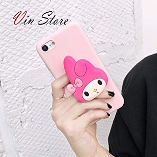 Elmo My Melody Ryan Kitty Kumamon Phone Case 3D Cute Cartoon for iPhone 6 6S 7 8 Plus X XR XS Max (My Melody, iPhone Xs Max)