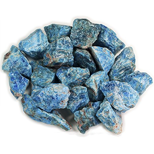 """Hypnotic Gems 1 lb Bulk Apatite Rough from Madagascar - Large 1"""" Natural Raw Stones & Fountain Rocks for Tumbling, Cabbing, Polishing, Wire Wrapping, Wicca & Reiki Crystal Healing"""
