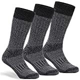 Warm Thermal Wool Socks for Winter Moisture Wicking and Breathable Cozy Boot Socks Charcoal SM
